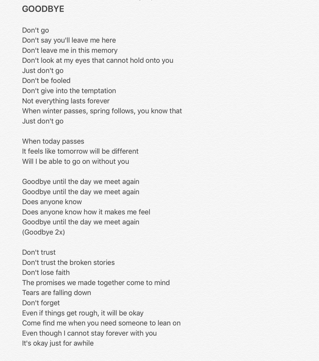 [ENG TRANS] 2NE1 - GOODBYE   #NeverSayGoodbye2ne1 https://t.co/9tipND34kV