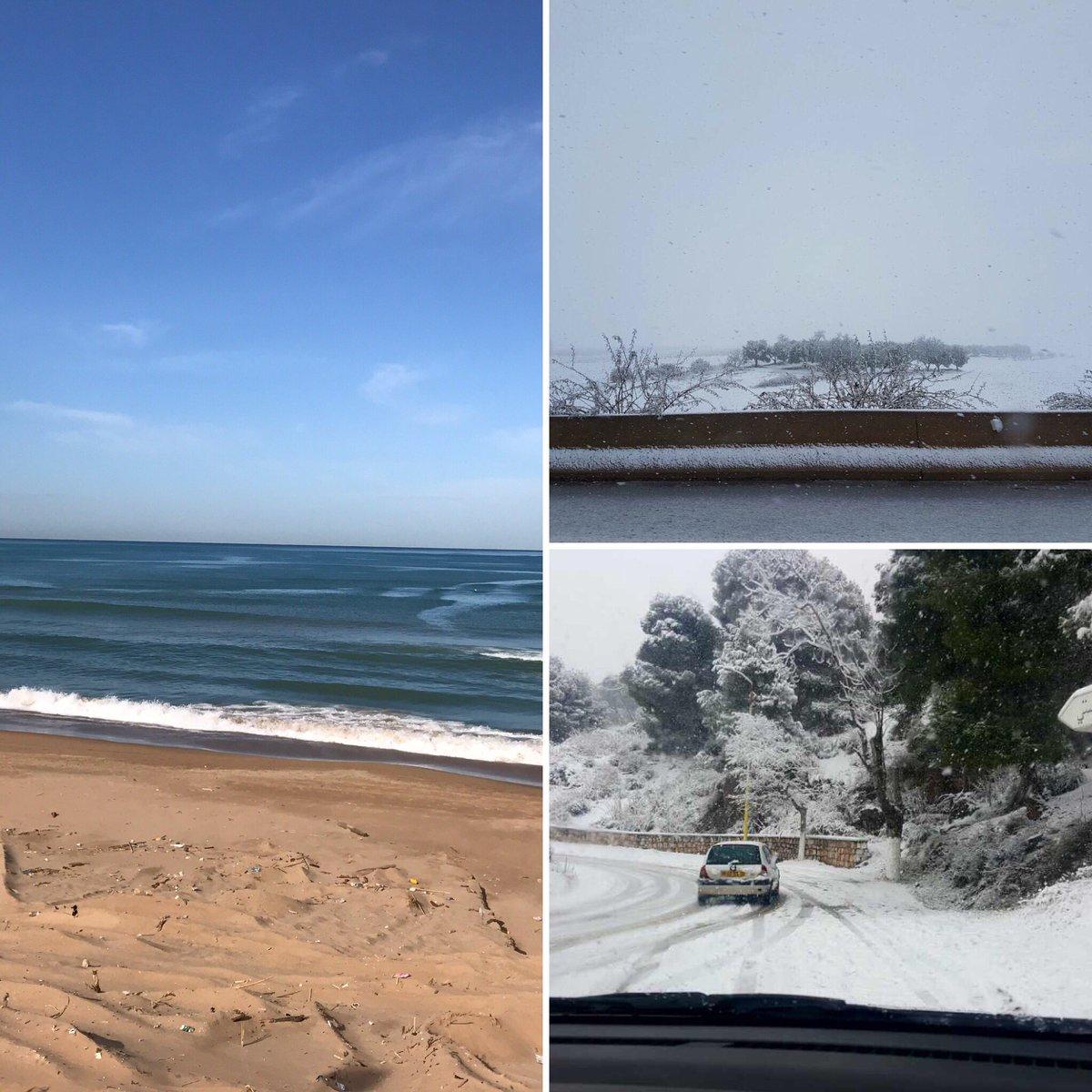 En même moment en #algerie nous avons du soleil de la neige , des beaux paysages  le #pétrole ne sera jamais aussi puissant <br>http://pic.twitter.com/utjKiDamH7
