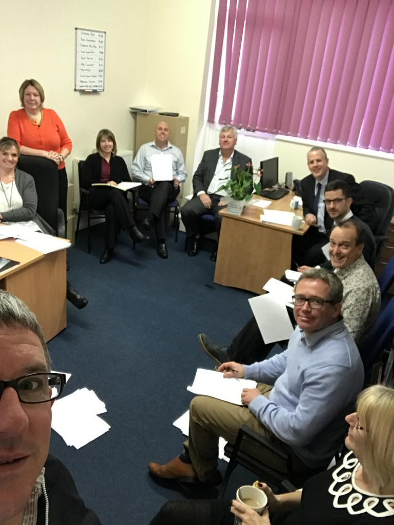#Meettheteam Smiles all round then down to business at our #compliance meeting this morning #Carterdawesfamily<br>http://pic.twitter.com/RK8DdquU47