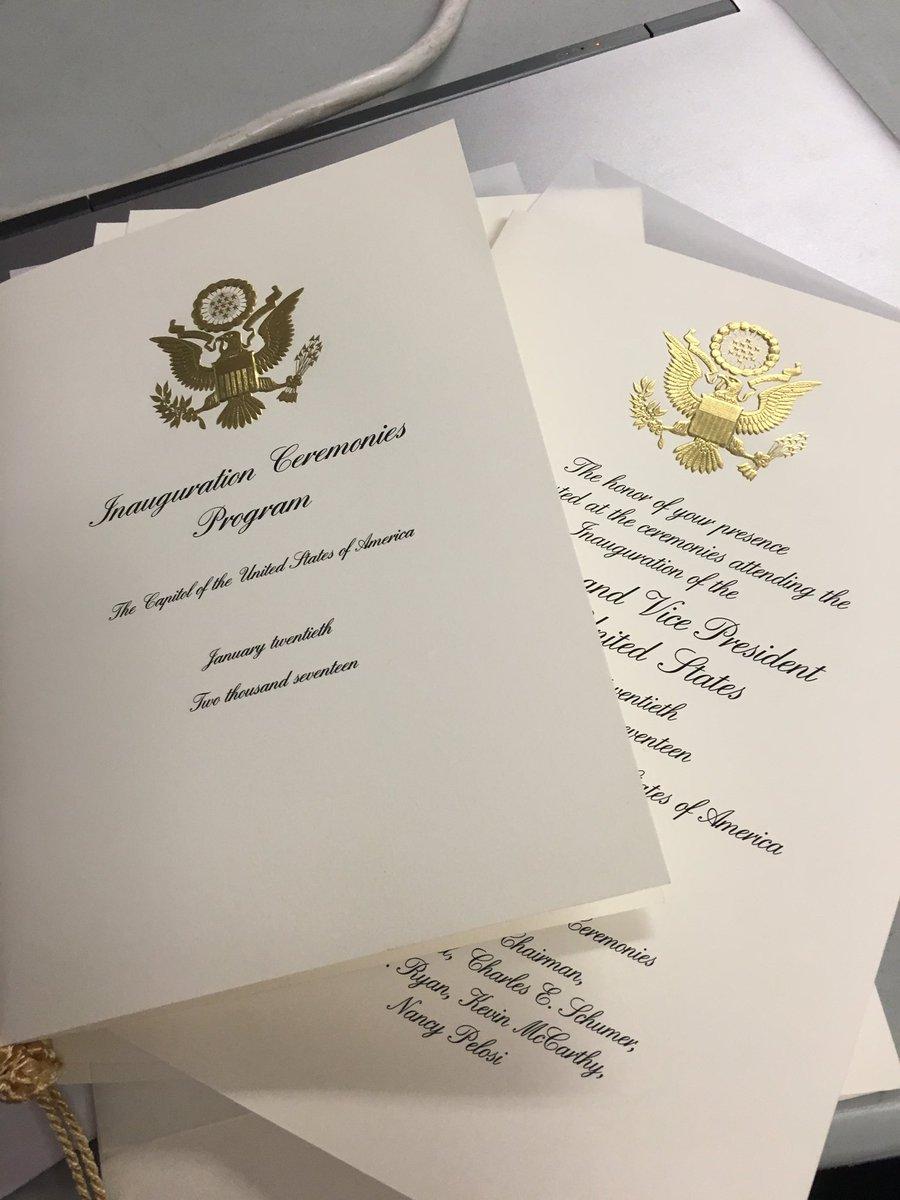 The official program & invitation for Trump's oath of office on the steps of Capitol https://t.co/VmN1fdrfs9