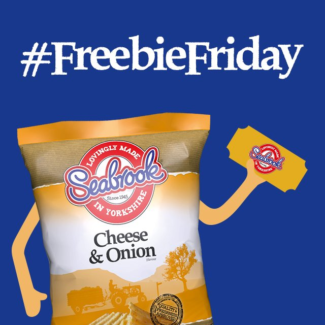 It's nearly the weekend! Follow us & RT for the chance to win a Seabrook voucher #FreebieFriday https://t.co/3B5gXPTiLI
