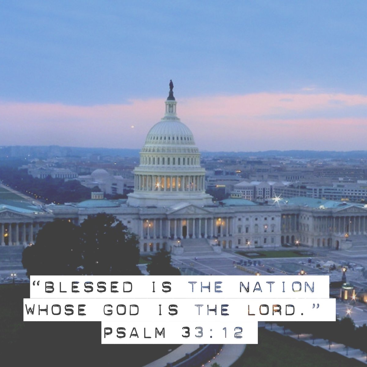 """Blessed is the nation whose God is the Lord."" Psalm 33:12 #inauguration https://t.co/OcqRi4p3ye"