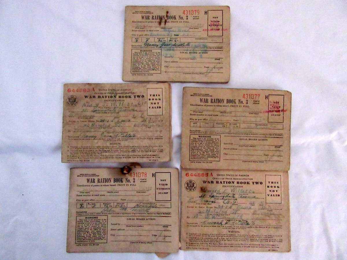 WWII War Ration Books Two and Three 5 Books  #WarFront  https://t.co/s...