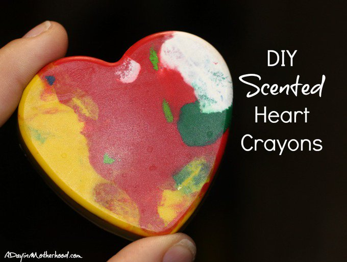 DIY Scented Heart Crayons