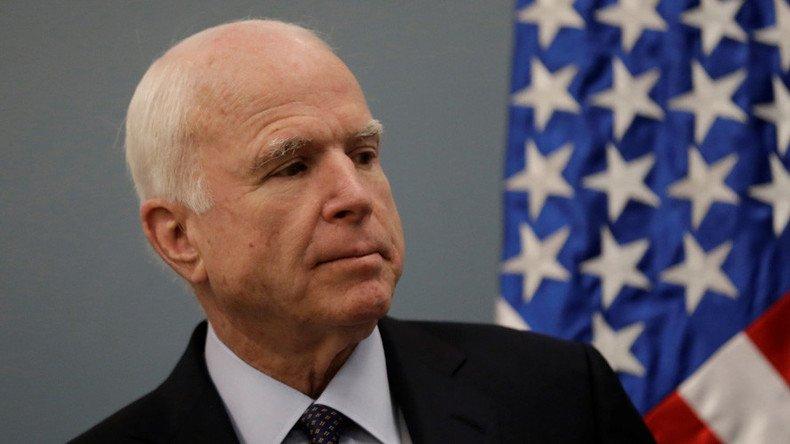 John #McCain diffuse un dossier pour nuire à l&#39;image de #Trump et tente désormais de sauver sa peau  https:// francais.rt.com/opinions/32629 -john-mccain-diffuse-dossier-image-trump-sauver-peau &nbsp; … <br>http://pic.twitter.com/JOYIm3YrOU
