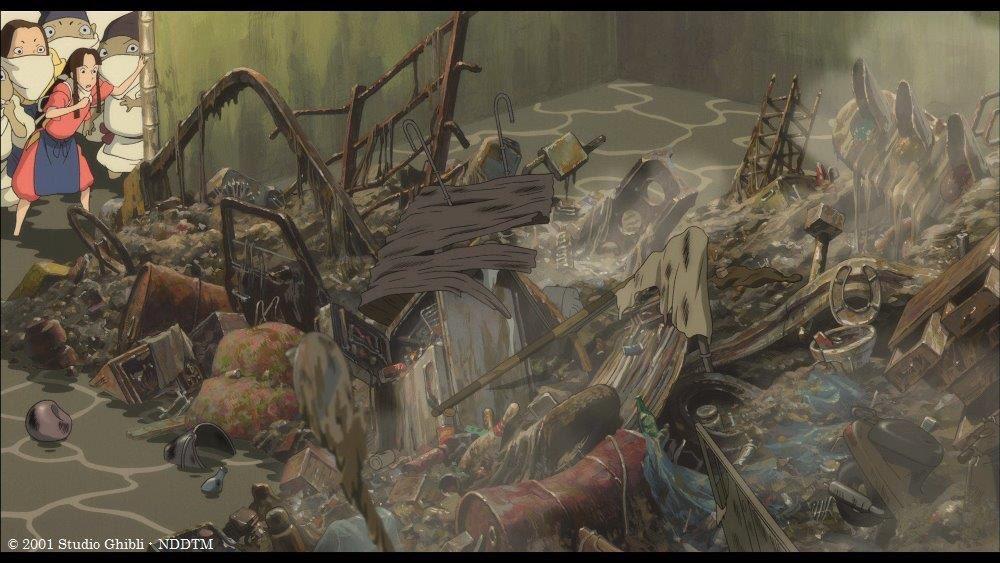 ■千と千尋お得情報メモ   河の神様 自転車に建材からルアーまで、人間が河に投げ捨てた大量のゴミによ…