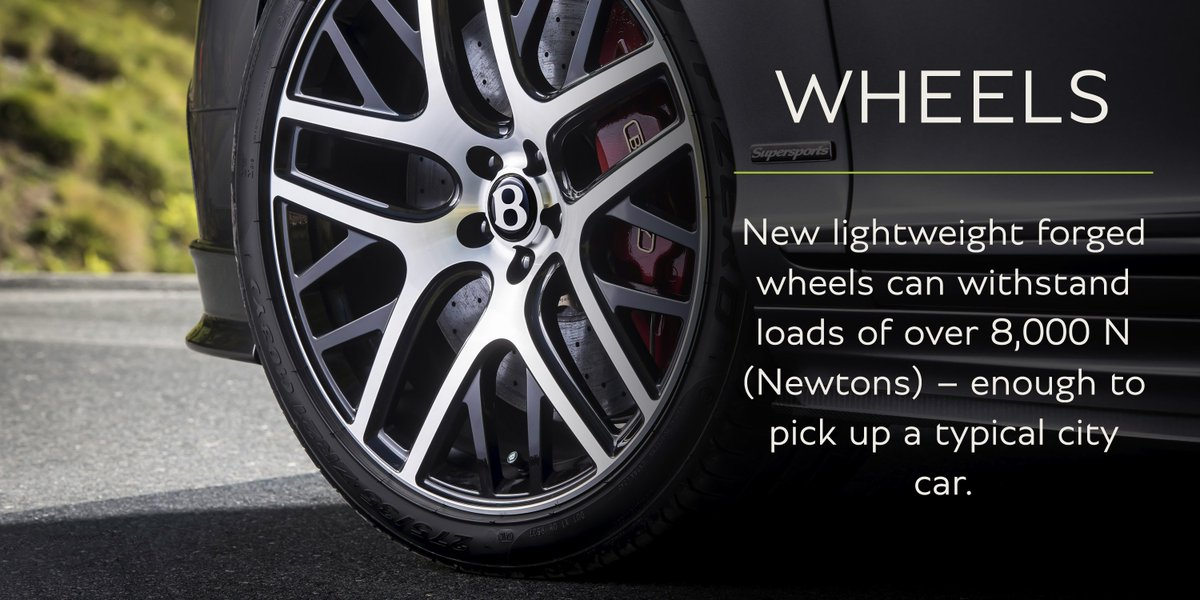 #Supersports lightweight forged wheels can withstand over 8,000 N (Newtons):