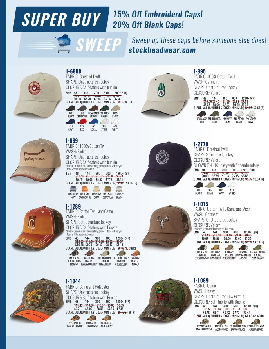 Legacy 92 Blank Hats