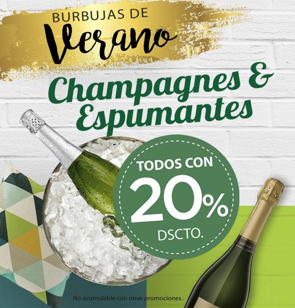 Este descuento te gustará! Hoy 20 enero 20% OFF en todos los #espumosos y #champagnes @Cumparini <br>http://pic.twitter.com/CHpxn8WPvq