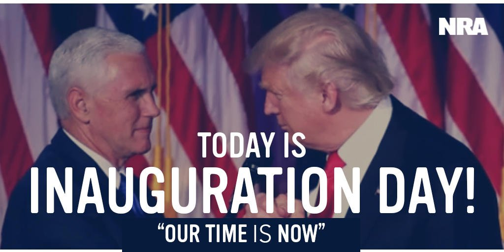 TODAY, #America gets a president who will NEVER back down from defending our #2A Right to Keep and Bear Arms! #InaugurationDay  #MAGA<br>http://pic.twitter.com/O1JlQp28Co