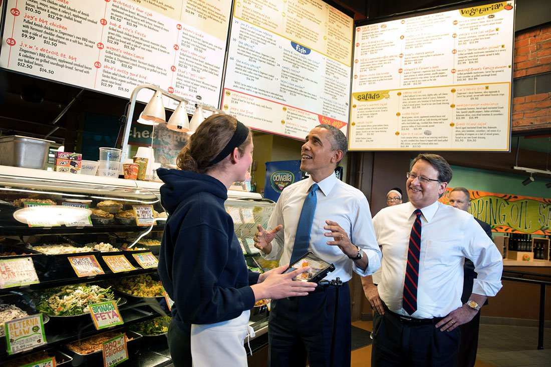 #FBF Remember when President Obama visited Zingerman's? https://t.co/w5SlxRWaI3