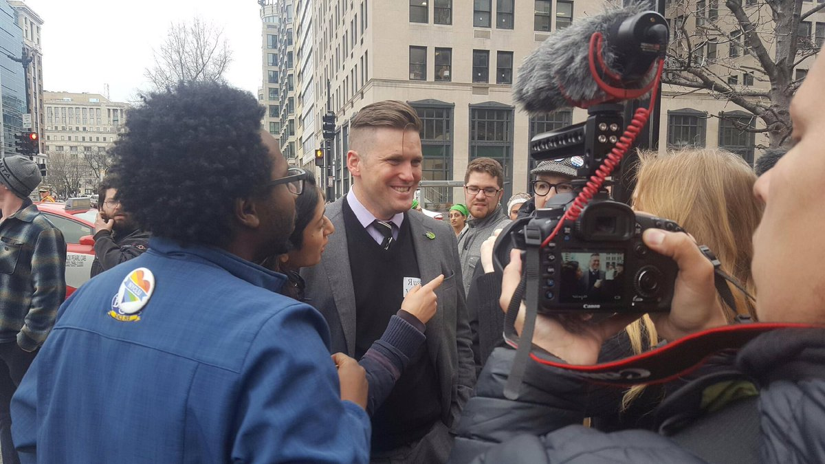 Just before Richard Spencer got punched in the face...twice. https://t...
