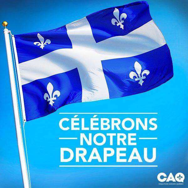 Profitons du #jourduDrapeau pour célébrer ce symbole rassembleur! #CAQ #polqc<br>http://pic.twitter.com/kbUNIlkpMB