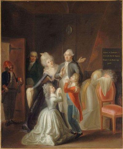 5. 20 janvier 1793, 22h15, après des #adieux déchirants, la #FamilleRoyale se sépare puis le #roi va souper pour la dernière fois. #LouisXVI<br>http://pic.twitter.com/O1yQYW79Op