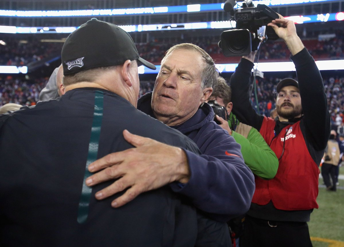 Report: Chip Kelly met with Bill Belichick after Jaguars job fell through tw.nbcsports.com/8Hi3