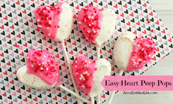 Easy Heart Peeps Pops Recipe
