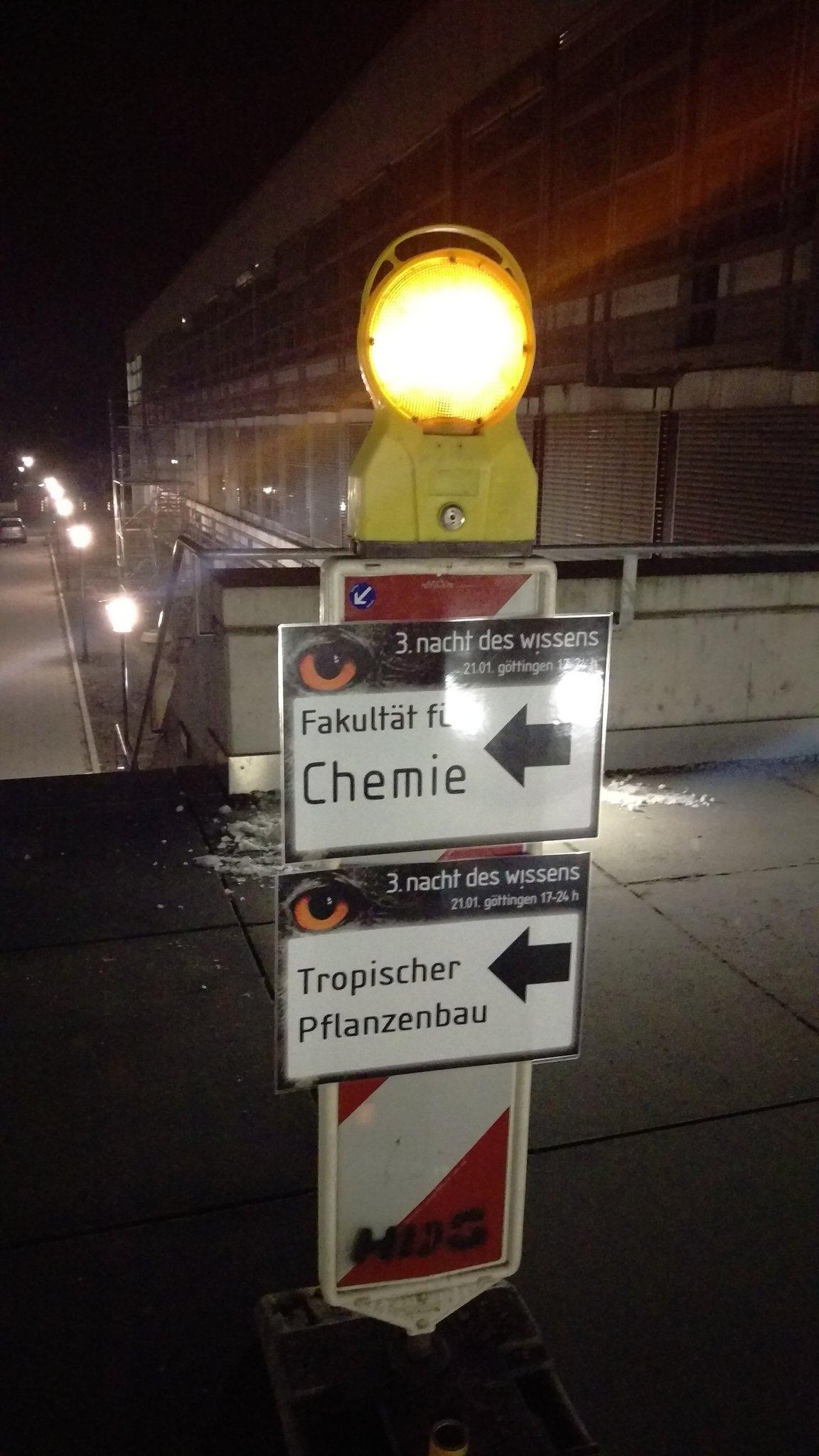 Folgt dem (orangen) Licht des Wissens morgen Nacht. #ndwgoe #goettingen #Wegeführung #unigoe https://t.co/YfDCo7SNH7