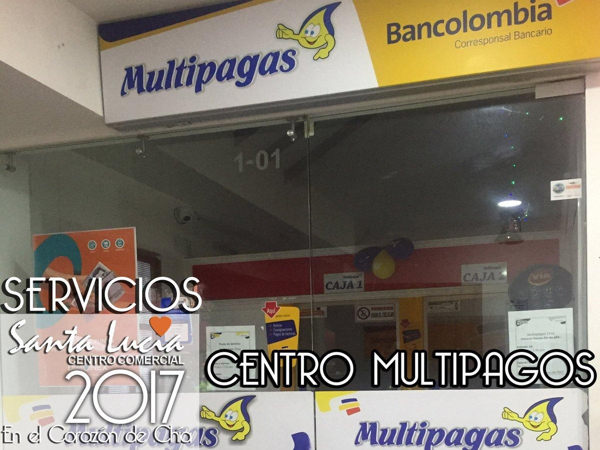 C C Santa Lucia On Twitter Centro De Servicios Multipago Bancolombia Pagos Servicios