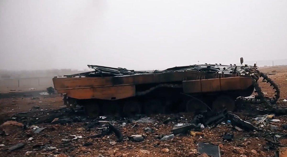 Россия превратила турецкие танки в Сирии в груду обгоревшего металла