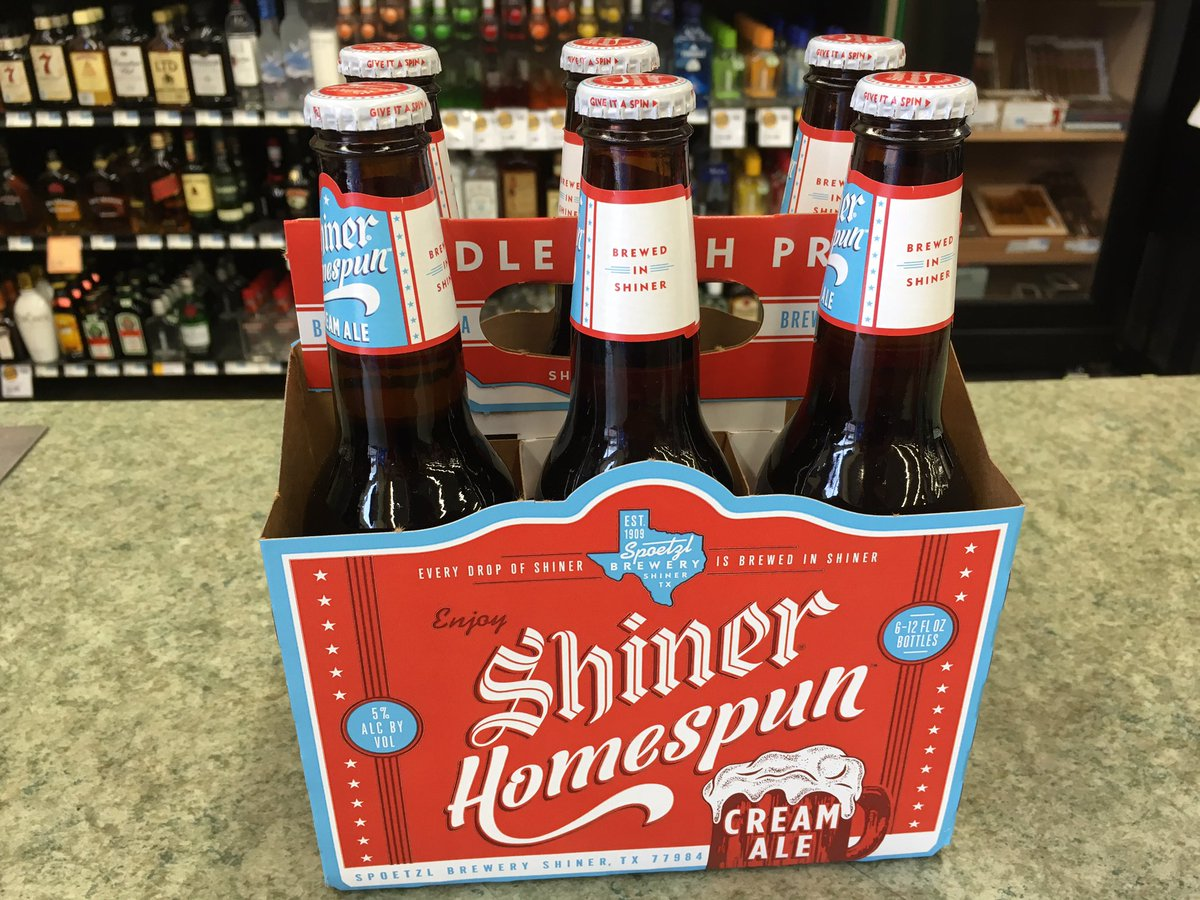 Just in from our friends at @ShinerBeer! Shiner Homespun Cream Ale 🍻 h...