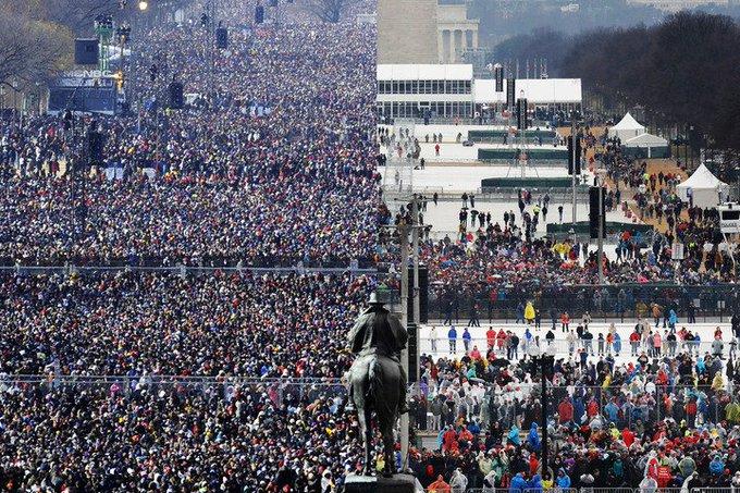 Wow—2013 vs. 2017. #Inauguration