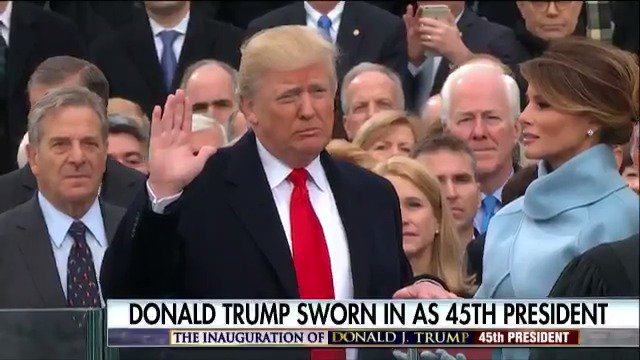 .@realDonaldTrump is sworn in as the 45th President of the United Stat...