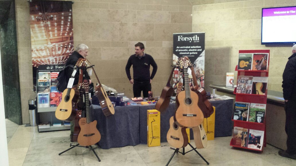 Forsyth stall at Craig Ogden Guitar Weekend 2017