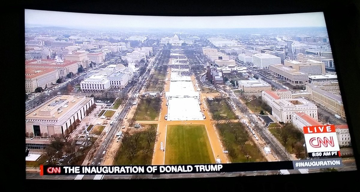 Look how empty. This is such a joke #StillWithHer #TrumpInauguration<br>http://pic.twitter.com/U0a159uwSJ