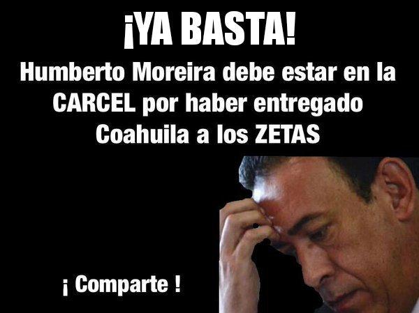 #UnChavoRucoSiempre repudia a Moreira por entregar Coahuila a los Z ¿Y...