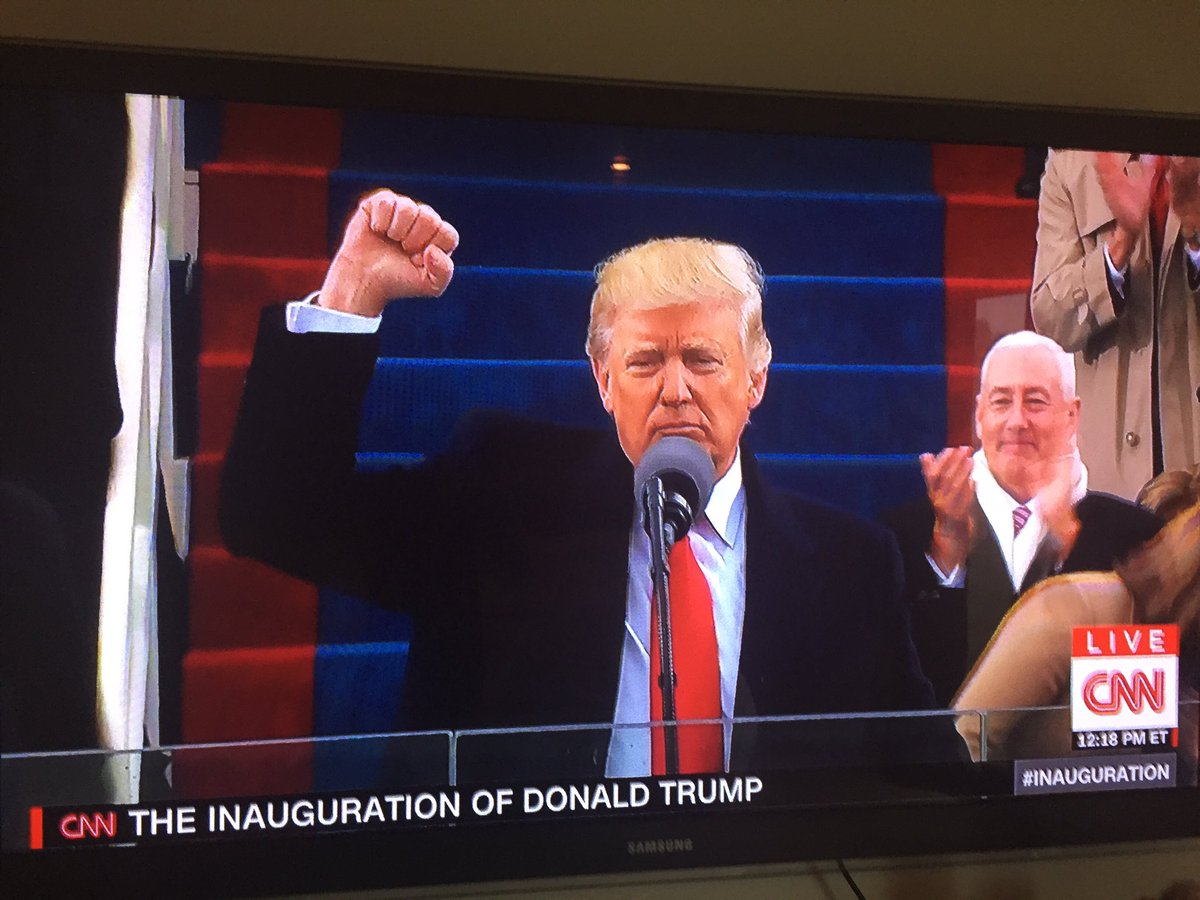 Our president just fist pumped after getting through his first advance...