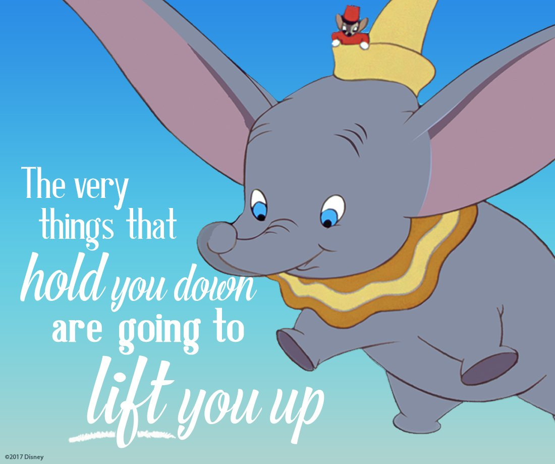 "Disney UK on Twitter: """"The very things that hold you down are going to  lift you up"" Timothy Mouse #Dumbo… """