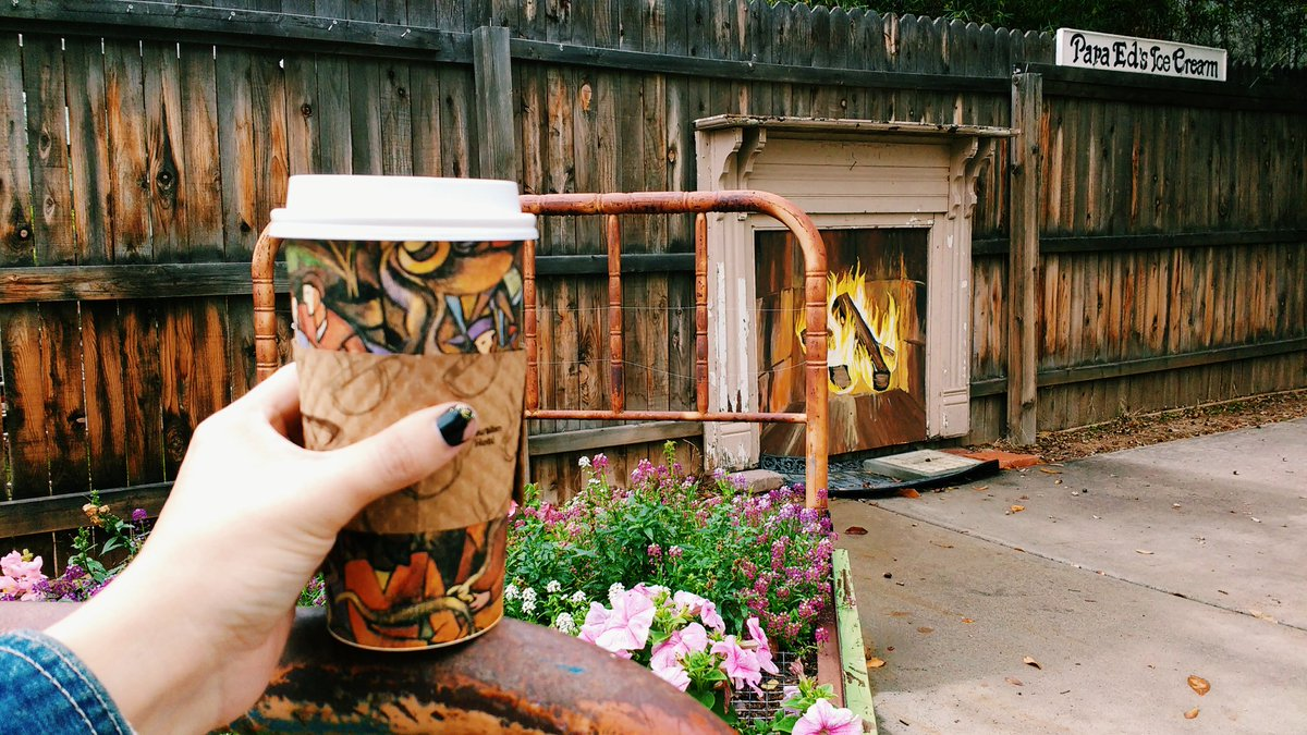 coffee-and-flower-bed