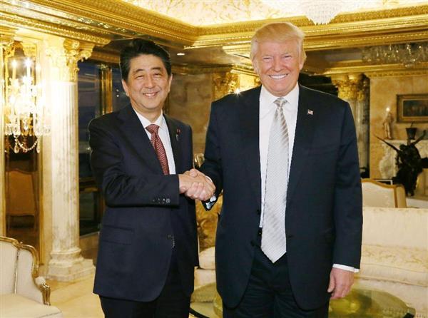 安倍晋三首相が祝辞「共に課題に取り組むことを楽しみにしている」「同盟の絆一層強化」  sankei.…