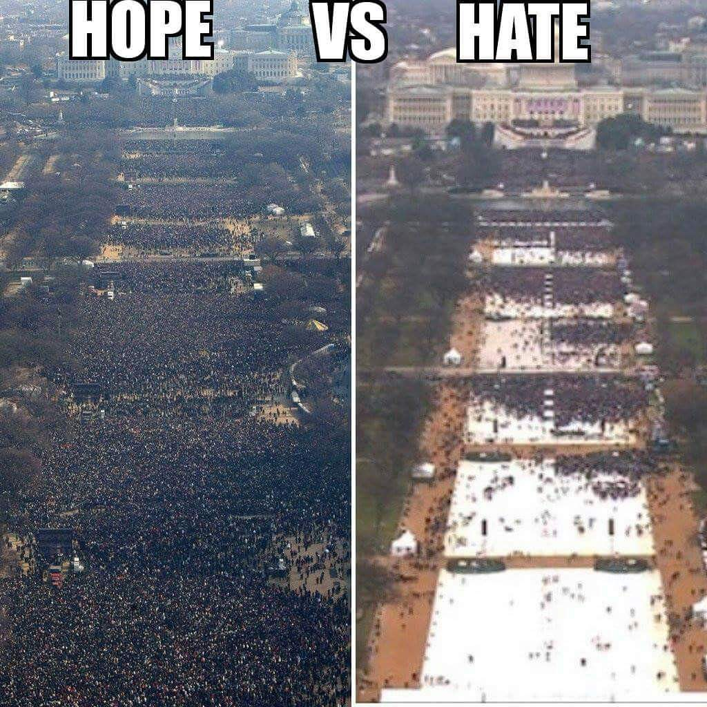 There is a big difference this #InaugurationDay with the #illegitimate...