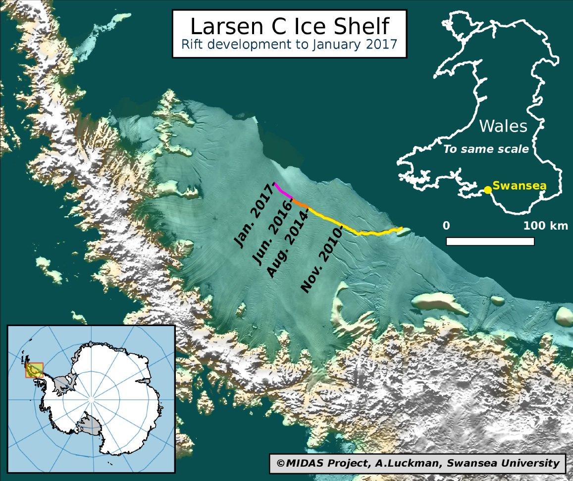 L&#39;Antarctique se morcelle  http://www. journaldemontreal.com/2017/01/20/ice berg-geant-en-antarctique-la-crevasse-setend &nbsp; …  #climatechange #InaugurationDay2017<br>http://pic.twitter.com/FWbNh20xOt