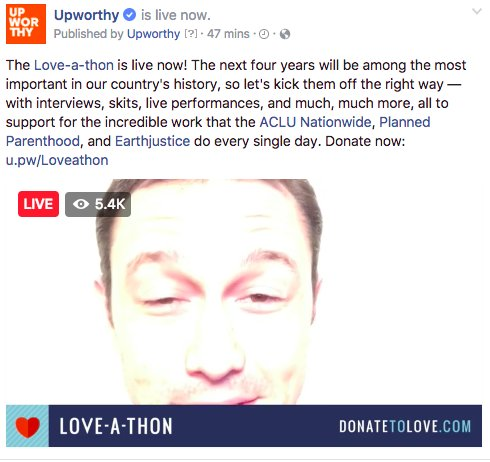 Up now on #LOVEATHON: JGL talks about why he supports the @ACLU: https...
