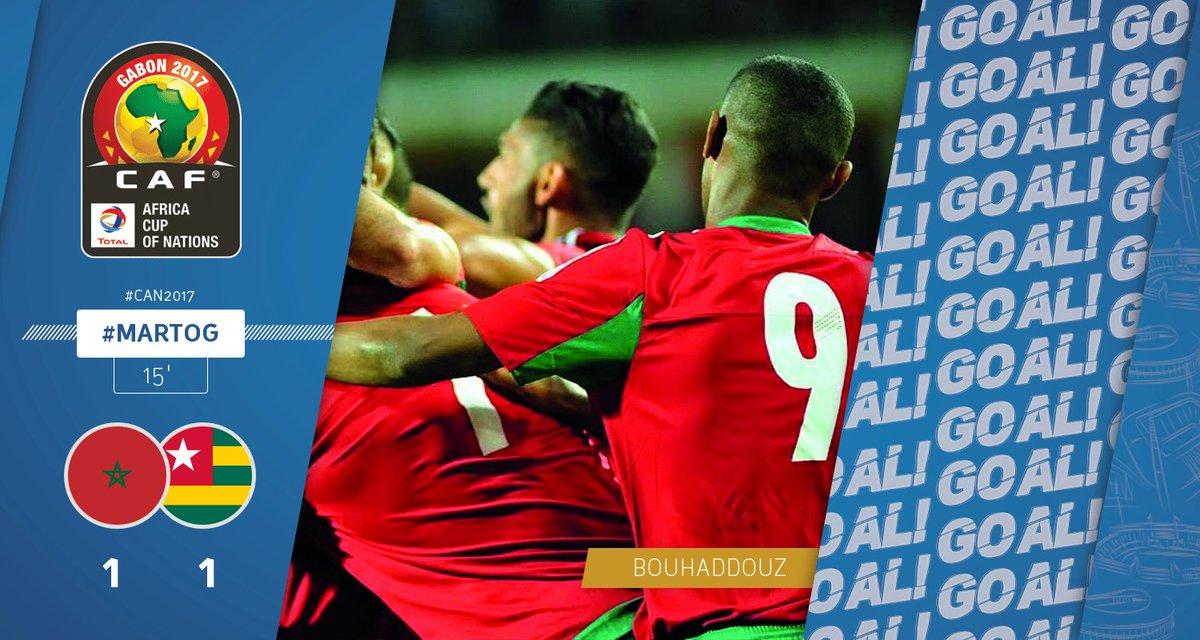 GOOOOAAAL | BOUHADDOUZ scores a goal for Morocco. Morocco - Togo 1-1 #...