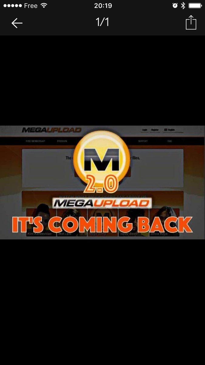 """#megaupload vous vous en souvenez ? Je viens juste de tilter qu'une """"v2"""" devait sortir aujourd'hui ! #mega <br>http://pic.twitter.com/Uxx7h80XEV"""