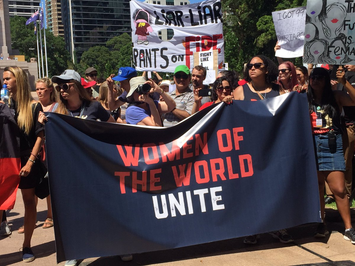 Sydney one of the first of over 600 marchs worldwide today #WomensMarch #auspol <br>http://pic.twitter.com/eh8rZdwSWj