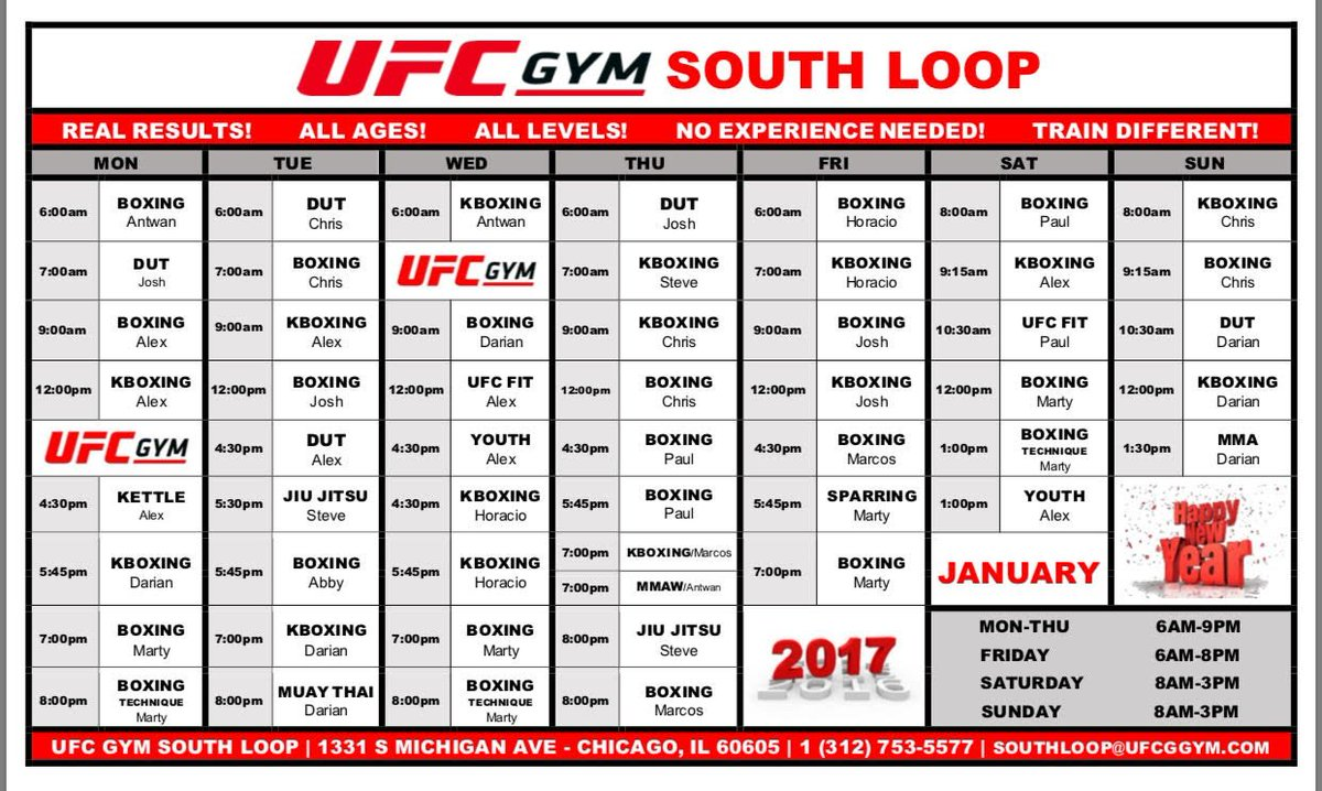 UFC Gym South Loop (@southloopufcgym) | Twitter