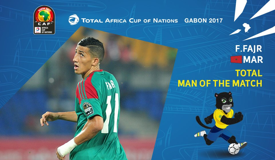 F.Fajr est élu Total Man of the Match ! #CAN2017 #FootballTogether #MA...