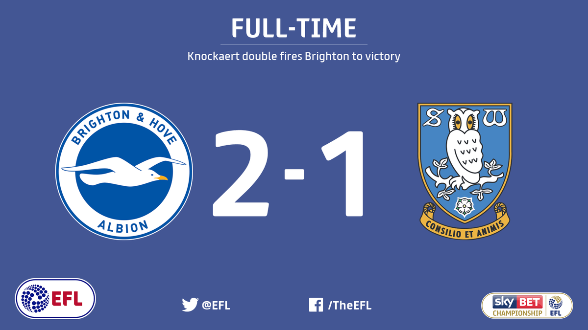 FULL-TIME: @OfficialBHAFC 2-1 @swfc.  Anthony Knockaert's late goal se...