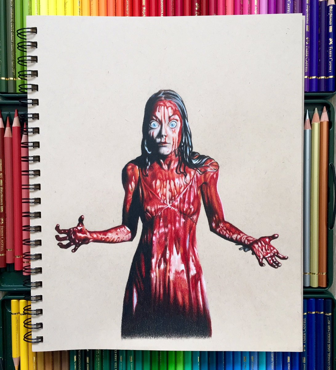 Check out my latest pencil drawing  http://www. renatepostma.com/image/15613935 3475 &nbsp; …  #art #drawings #carrie #stephenking #70s #horrormovie #horrorfan #artist<br>http://pic.twitter.com/YU9ommEQNi