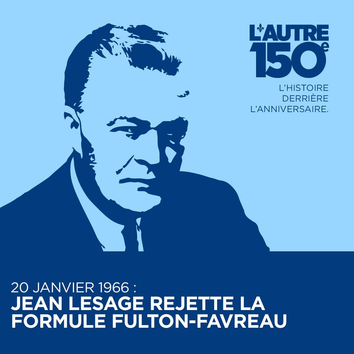 20 janv. 1966: Lesage rejette la formule Fulton-Favreau parce qu'elle empêche d'étendre l'autonomie du Qc  https://www. facebook.com/autre150e/post s/1256570244410084:0 &nbsp; …  #Canada150  <br>http://pic.twitter.com/8DHr3YbZAX