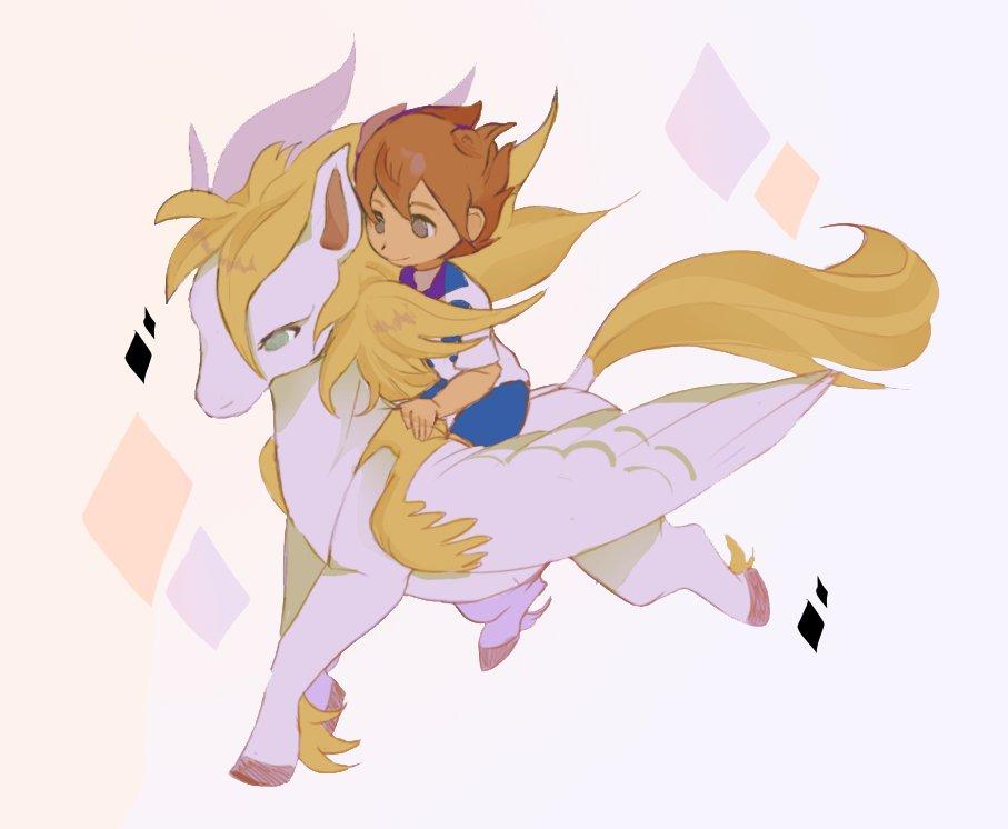 tenma and pegasus ' v '   i want to draw shindou or tsurugi with their...