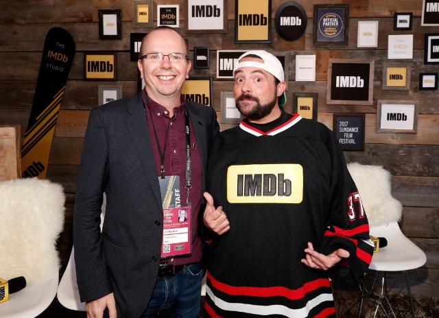 Col Needham + @ThatKevinSmith at the #IMDbStudio #Sundance