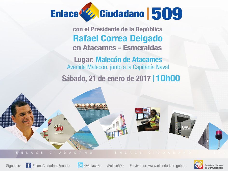 Todos invitados este sábado al #Enlace509 con el Presidente @MashiRafa...