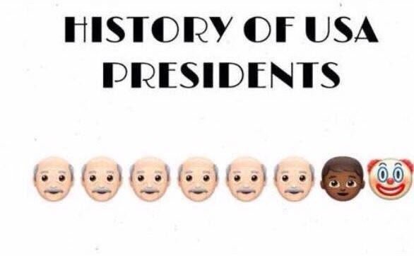 Jajaha!! Me encantó este. La evolución de los presidente norteamerican...