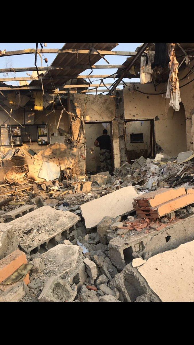 صور للاستراحه بحي الحرزات بعد مداهمتها ومقتل اثنين من الارهابيين  #مقت...