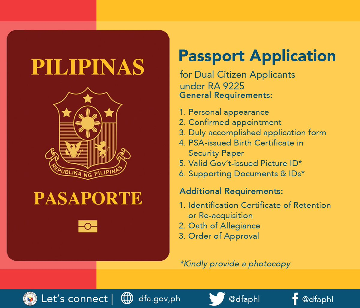 Dfa Philippines On Twitter Did You Avail Of A Dual Citizenship